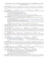 Tổng hợp các câu trắc nghiệm vật lý phần cơ trong các đề thi đại học 2007 đến 2015