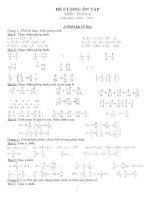 Đề cương ôn tập toán 6 học kỳ II