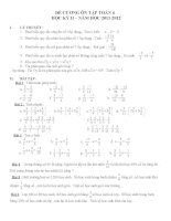 Đề cương ôn tập toán 6 học kỳ II 2012