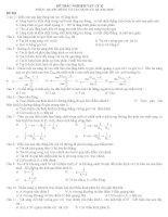 Đề trắc nghiệm vật lý 12