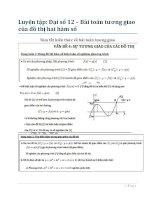 Bài tập tương giao hai đồ thị toán 12 (có đáp án)