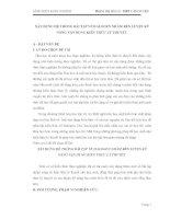 skkn XÂY DỰNG HỆ THỐNG BÀI TẬP VỀ HALOGEN NHẰM RÈN LUYỆN KỸ NĂNG VẬN DỤNG KIẾN THỨC LÝ THUYẾT