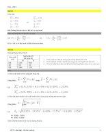 Bài tập ôn thi cuối kỳ môn quản trị tài chính