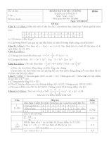 Đề khảo sát chất lượng toán lớp 7