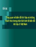 Tổng quan về biến đổi khí hậu và những thách thức trong phân tích kinh tế biến đổi khí hậu ở Việt Nam