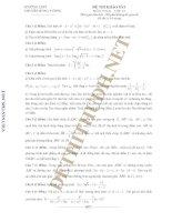 Đề thi và đáp án: Đề thi khảo sát môn Toán lớp 12  Trường THPT Chuyên Hùng Vương