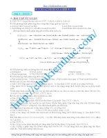 Đề cương ôn thi tốt nghiệp- Đại học mô hóa - Chu Văn An