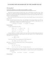 10 Phương pháp giải nhanh trắc nghiệm hoá học THPT