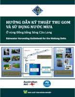 Hướng dẫn Kỹ thuật thu gom và sử dụng nước mưa ở vùng Đồng bằng Sông Cửu Long