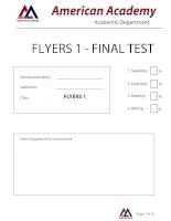 FLYERS 1 - FINAL ODI ANSWER KEY