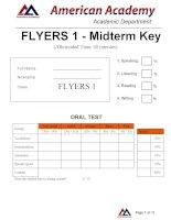 FLYERS 1- MIDTERM ODI-  ANSWER KEY