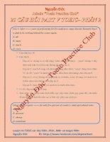 25 câu hỏi Part 5 Toeic Phần 2 có đáp án kèm giải thích