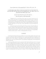 Cơ Sở Khoa Học Cho Lượng Giá Kinh Tế Các Tổn Thất Tài Nguyên Môi Trường Do Sự Cố Ô Nhiễm Dầu Tác Ðộng Lên Các Hệ Sinh Thái Biển Việt Nam