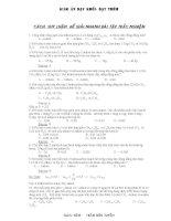 Các suy luận để giải nhanh bài tập trắc nghiệm Hóa học -Trần Hữu Tuyền