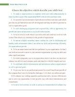 Những Mẫu Câu Nói Về Mục Đích Công Việc Dùng Để Viết CV