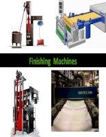 Finihing machine - Main Parts of The Machine