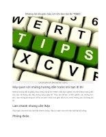 Những lời khuyên hữu ích khi làm bài thi TOEIC