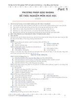 Phương pháp giải nhanh trắc nghiệm và đề thi ôn - Part1+2