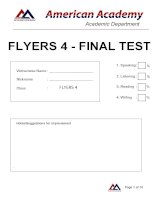 FLYERS 4 - FINAL ODI ANSWER KEY