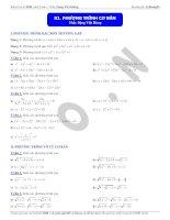 Chuyên đề Phương trình, Bất phương trình, hệ phương trình ôn thi THPT Quốc gia môn Toán của thầy Đặng Việt Hùng