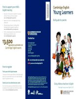Cambridge English - Young Learners brief guide for parents
