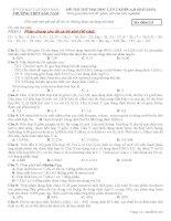 ĐỀ THI THỬ ĐẠI HỌC LẦN 2 KHỐI A,B (2012-2013) - Trường THPT Sào Nam