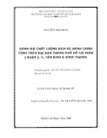 ĐÁNH GIÁ CHẤT LƯỢNG DỊCH VỤ HÀNH CHÍNH CÔNG TRÊN ĐỊA BÀN THÀNH PHỐ HỒ CHÍ MINH (QUẬN 3, 11, TÂN BÌNH & BÌNH THẠNH).PDF