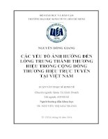 CÁC YẾU TỐ ẢNH HƯỞNG ĐẾN LÒNG TRUNG THÀNH THƯƠNG HIỆU TRONG CỘNG ĐỒNG THƯƠNG HIỆU TRỰC TUYẾN TẠI VIỆT NAM.PDF