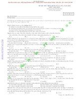 Đề thi thử quốc gia môn Hóa học lần 1 năm 2015 - Trường THPT Chuyên Hùng Vương