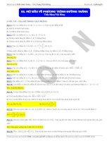 Chuyên đề Hình học Tọa độ phẳng ôn thi THPT Quốc gia môn Toán của thầy Đặng Việt Hùng