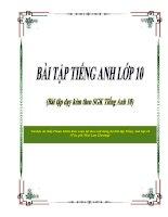 Bài Tập Tiếng Anh lớp 10 cả năm của Mai Lan Hương (file word)
