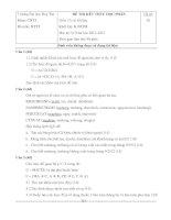 Đề thi kết thúc học phần CƠ SỞ DỮ LIỆU (năm 2012 - 2013) của Trường Đại học Duy Tân