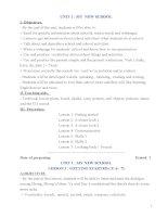 Giáo án Tiếng Anh 6 thí điểm trọn bộ - Cực chi tiết