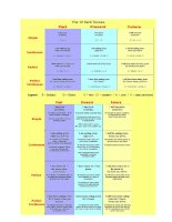 12 verb tenses used in English grammar