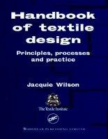 Handbook of Textile Design Principles Processes and Practice