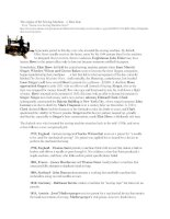 TÀI LIỆU GIỚI THIỆU VỀ NGUỒN GỐC CỦA MÁY MAY - origins of the sewing machine