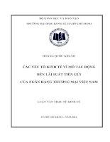 CÁC YẾU TỐ KINH TẾ VĨ MÔ TÁC ĐỘNG ĐẾN LÃI SUẤT TIỀN GỬI CỦA NGÂN HÀNG THƯƠNG MẠI VIỆT NAM.PDF