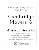 movers 6 answer booklet