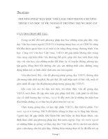 SKKN PHƯƠNG PHÁP DẠY HỌC THỂ LOẠI THƠ TRONG CHƯƠNG TRÌNH VĂN HỌC NƯỚC NGOÀI Ở TRƯỜNG TRUNG HỌC CƠ SỞ