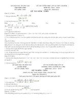 đề thi tuyển sinh môn toán vào lớp 10