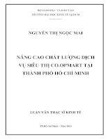 NÂNG CAO CHẤT LƯỢNG DỊCH VỤ SIÊU THỊ CO.OPMART TẠI TPHCM LUẬN VĂN THẠC SĨ NGUYỄN THỊ NGỌC MAI.PDF