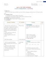 Giáo án Tiếng Anh lớp 6 thí điểm trọn bộ đầy đủ cực hay (bản đẹp)