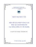 MỘT SỐ GIẢI PHÁP NÂNG CAO HIỆU QUẢ KINH DOANH TẠI TỔNG CÔNG TY TÍN NGHĨA.PDF