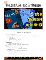 Giáo án Tiếng Anh lớp 6 cả năm cực hay 2015