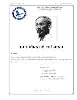 Đề tài Tư tưởng Hồ Chí Minh: Phân tích quan điểm của Hồ Chí Minh về đại đoàn kết dân tộc? Để xây dựng khối đại đoàn kết toàn dân hiện nay cần thực hiện các giải pháp như thế nào?