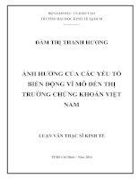 LUẬN VĂN THẠC SĨ  ẢNH HƯỞNG CỦA CÁC YẾU TỐ BIẾN ĐỘNG VĨ MÔ ĐẾN TTCK VIỆT NAM  2014.PDF