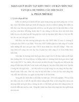 SKKN GIÚP HS ÔN TẬP KIẾN THỨC CƠ BẢN MÔN NGỮ VĂN QUA HỆ THỐNG CÂU HỎI NGẮN