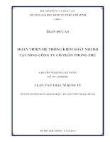 HOÀN THIỆN HỆ THỐNG KIỂM SOÁT NỘI BỘ TẠI TỔNG CÔNG TY CỔ PHẦN PHONG PHÚ.PDF