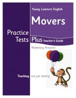 Movers Practice Tests Plus Teacher''s Guide A
