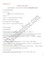 Ngữ Pháp - Bài Tập SGK - Đề Kiểm Tra Tiếng Anh lớp 7